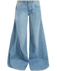 Raey - Moon Godet-insert Wide-leg Jeans - Lyst