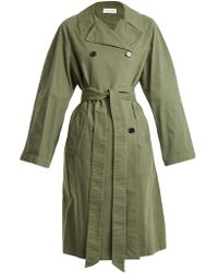 MASSCOB - Double-breasted Cotton Trench Coat - Lyst