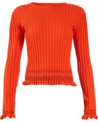 Altuzarra - Malou Ruffled Cuff Ribbed Knit Jumper - Lyst