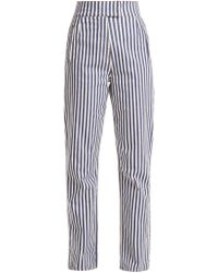 Rockins - Striped High-rise Straight-leg Trousers - Lyst