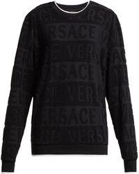 Versace - Logo Cotton Towelling Sweatshirt - Lyst