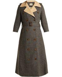Khaite - Charlotte Houndstooth Wool Trench Coat - Lyst
