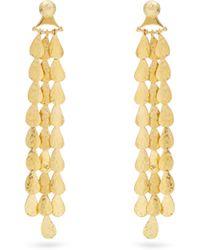 Sophia Kokosalaki - Gold Lunar Drop Chandelier Earrings - Lyst