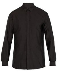 Haider Ackermann - Polka-dot Jacquard Silk-blend Shirt - Lyst