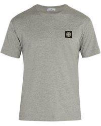 Stone Island - Logo-patch Cotton T-shirt - Lyst
