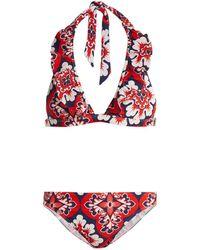 LaDoubleJ - Palazzo Rosso-print Bikini - Lyst