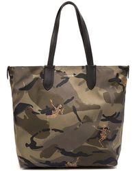 Alexander McQueen - Dancing Skeleton Camouflage-print Tote Bag - Lyst