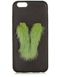 Fendi - - Leather Iphone® 6 Case - Womens - Black Green - Lyst