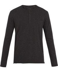 ATM - Crew-neck Cotton-blend Donegal T-shirt - Lyst