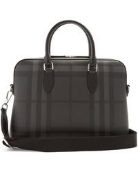 Burberry - Barrow House-checked Briefcase - Lyst