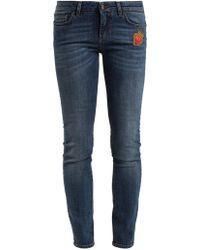 Dolce & Gabbana - Heart-embroidered Mid-rise Skinny Jeans - Lyst