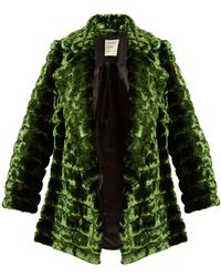 Maison Rabih Kayrouz - Grizzly Quilted Faux Fur Coat - Lyst