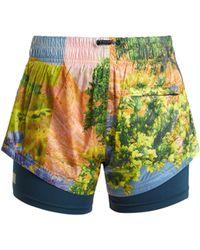 adidas By Stella McCartney - Run Nature-print Performance Shorts - Lyst