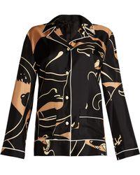 Valentino - Panther-print Pyjama Top - Lyst