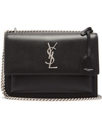 Saint Laurent - Sunset Medium Leather Cross Body Bag - Lyst