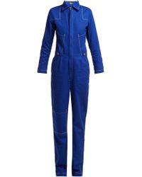 Aries - Contrast Stitching Denim Boiler Suit - Lyst