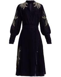Dodo Bar Or - Josephine Embellished Velvet Midi Dress - Lyst