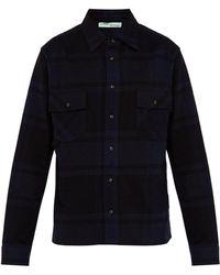 7db31de4f5c3 Off-White c o Virgil Abloh - Diagonal Arrow Print Checked Flannel Shirt -