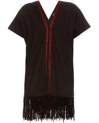 MASSCOB - Fringed-hem Silk-noil Dress - Lyst