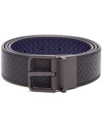 Bottega Veneta - Reversible Intrecciato Woven Belt - Lyst