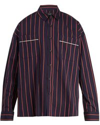 Fear Of God - Oversized Pinstripe Cotton Shirt - Lyst