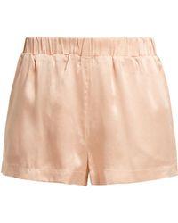 Beautiful Bottoms - Silk Pyjama Shorts - Lyst