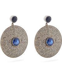 Jade Jagger - Diamond, Sapphire & White-gold Earrings - Lyst