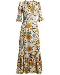The Vampire's Wife - Floral-print Ruffle Dress - Lyst