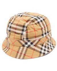 Burberry - - Nova Check Bucket Hat - Womens - Beige - Lyst