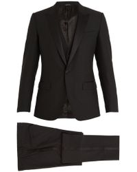 Dolce & Gabbana | Single-breasted Satin Peak-lapel Wool-blend Tuxedo | Lyst