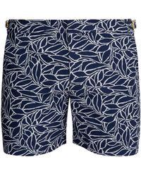 Orlebar Brown Short de bain en jacquard abstrait Alaria Bulldog X - Bleu