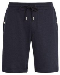 Moncler - Side-stripe Cotton-jersey Shorts - Lyst