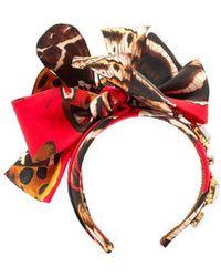 Dolce & Gabbana - - Crystal Embellished Butterfly Headband - Womens - Multi - Lyst