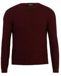 Zanone - Crew-neck Waffle-knit Sweatshirt - Lyst