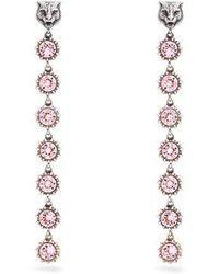 Gucci - Tiger Crystal-embellished Earrings - Lyst