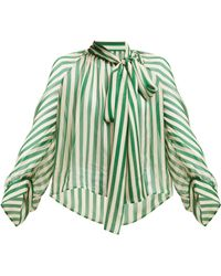 e2475a409c24d6 Petar Petrov - Bride Striped Pussybow Silk Blouse - Lyst