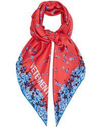 Vetements - Floral-print Silk Scarf - Lyst