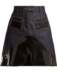 Ellery - Vontz Contrast Panel Denim Skirt - Lyst