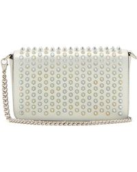 Christian Louboutin - Zoompouch Spike Embellished Leather Cross Body Bag - Lyst