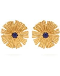 Aurelie Bidermann - Sofia Gold-plated Flower Earrings - Lyst