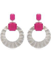 Isabel Marant - Crystal And Hoop Drop Earrings - Lyst