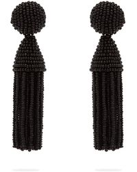 Oscar de la Renta - Beaded Tassel Drop Earrings - Lyst