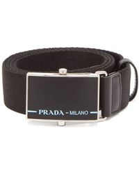 Prada - Logo Buckle Belt - Lyst