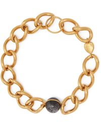 Burberry - Stone & Chain Necklace - Lyst