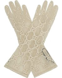 Gucci - Gg Embroidered Lace Gloves - Lyst
