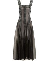 Christopher Kane - Crystal Embellished Sheer Dress - Lyst