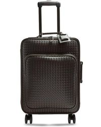 Bottega Veneta - Intrecciato Leather Suitcase - Lyst