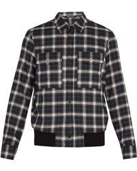 Neil Barrett - Checked Cotton Shirt - Lyst