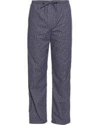 Derek Rose - Checked Brushed-cotton Pyjama Trousers - Lyst