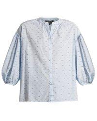 Saloni - Bette Cotton-blend Seersucker Shirt - Lyst